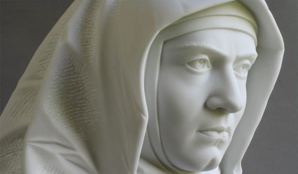 Edith Stein statue at the Walhalla, Regensburg, Germany